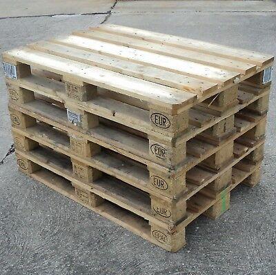 10 helle tauschfähige Europaletten 1A Holzpalette-wenig benutzt-trocken gelagert