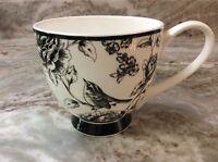 Portobello By Inspire Coffee, Tea Mug Flowers And Bird. White, Black. New.