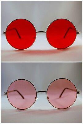 Runde Objektiv Sonnenbrille Männer Frauen Unisex Mode Kreis Punk Hippie Stil