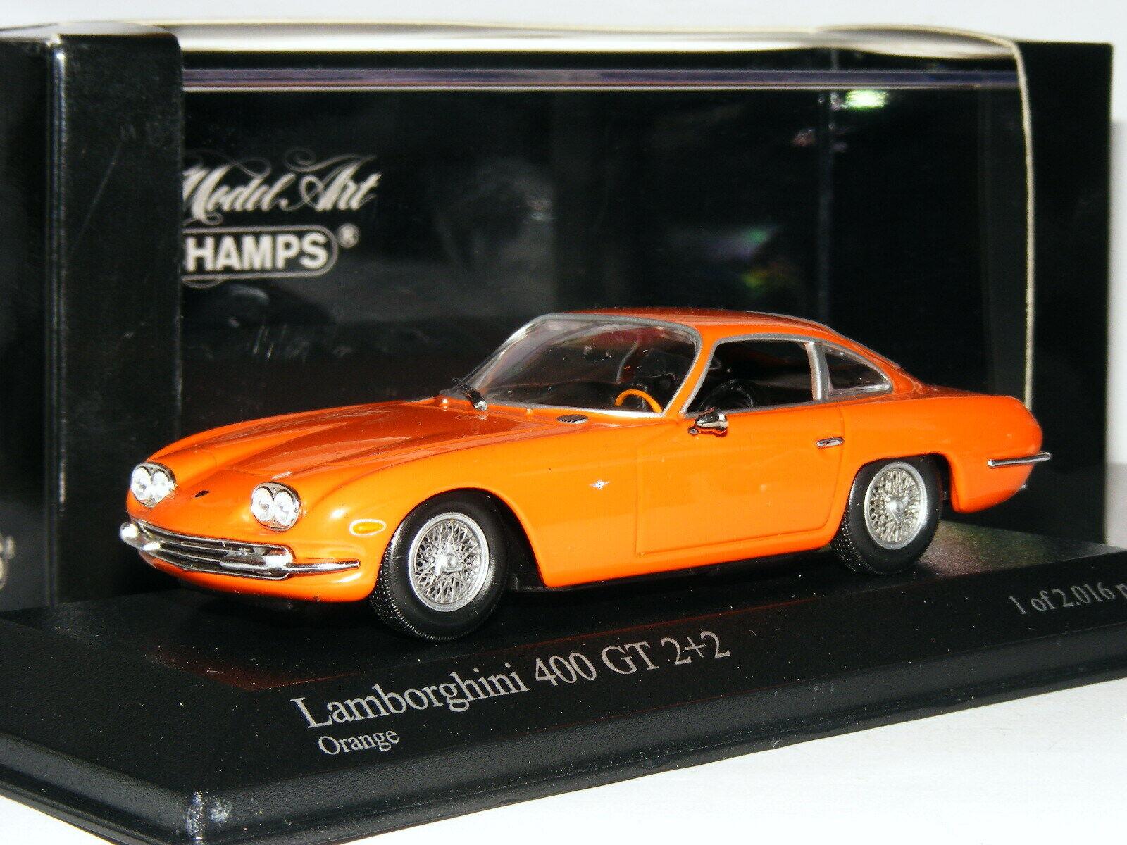las mejores marcas venden barato Minichamps 1964 Lamborghini 400 GT 2+2 2+2 2+2 Naranja Ltd Ed 1 43  más vendido