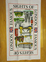 Highlights Of London Tea Towel From Elgate Uk 100% Cotton