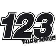 X Number Custom Race Numbers Vinyl Sticker Dirt Bike - Custom vinyl decals numbers