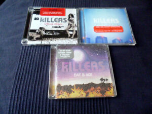 3 CDs Lot The Killers - Hot Fuss (2005) & Sam's Town (2006) Day & Age (2008)