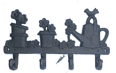 Cast Iron Key Holder in shape of Key or Watering Can