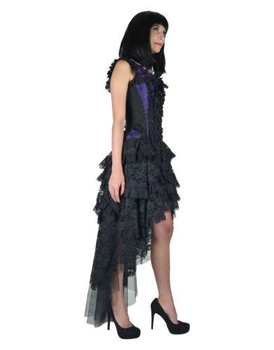BURLESKA GOTHIC OPHELIE VAMPIRE WEDDING PROM VINTAGE PURPLE BROCADE CORSET DRESS