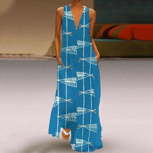 Women Long Maxi Dress Floral Print Split Hem Long Sleeve Shirt Dress Plus
