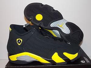 jordan 14 negro con amarillo