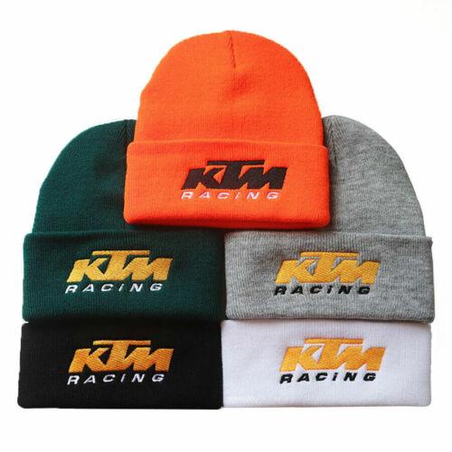 Homme Hiver Chaud Hat KTM Broderie Tricot Bonnet à Revers Maille Stretch Beanie Hat