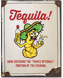 Tequila-pants-optional-Metal-tin-sign-home-garage-Bar-Shop-Wall-decor-new