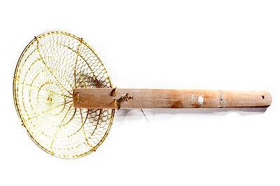 Skimmer In Ottone 20cm Diam Manico Lungo 28cm Qualità Superiore-