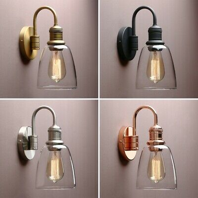 5 6 Cloche Glass Shade Retro, Wall Lights For Bathroom