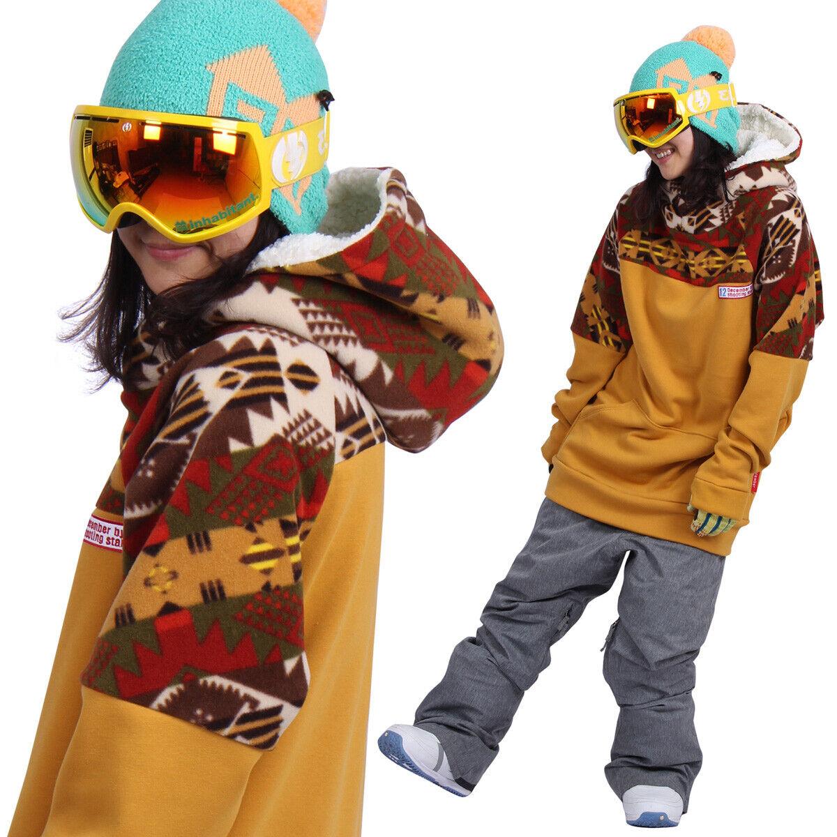 December long tall hoodie ski snowboard-Ga mustard