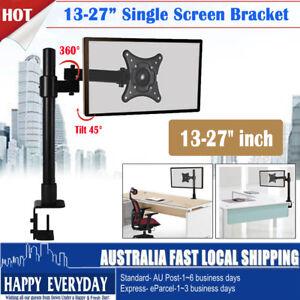 13-27inch-Single-Screen-LCD-Monitor-Tilt-Desk-Mount-Pole-Bracket-1-Arm-VESA-Home