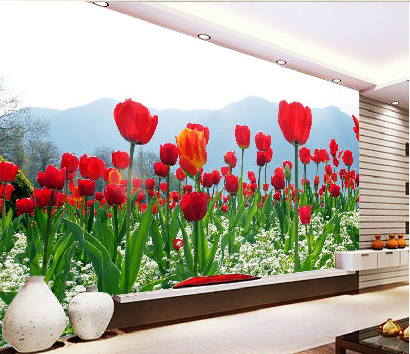 3D Flower Field Hill 7 Wall Paper Murals Wall Print Wall Wallpaper Mural AU Kyra