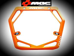 MAC One Race Mode Pro BMX Number Plate Black