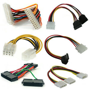 PSU-Cables-Adaptors-Connectors-Extensions-20-24pin-Molex-SATA-PCI-E-P4