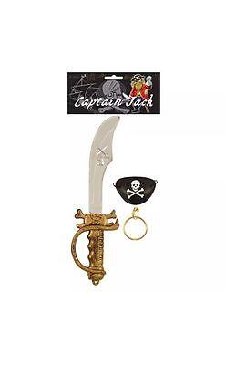 2x Spada Pirata E Eye Patch Costume-mostra Il Titolo Originale