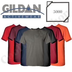 bc5f0e541f7f NEW Gildan Men's Heavy Cotton Plain Crew Neck Short Sleeves T-Shirt ...