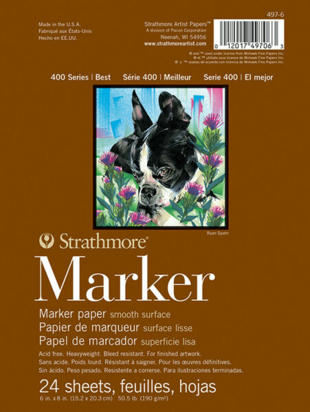 Strathmore 400 Series Drawing Pad 130gsm 4x6in 24 Sheets Medium