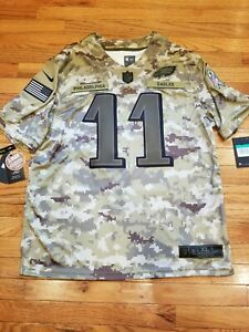 premium selection edc6a 9ccbf Details about Nike Carson Wentz Philadelphia Eagles Salute to Service  Jersey Men's XL $170