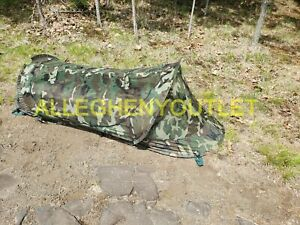 """USGI Bed Net 86"""" Self Supporting Pop Up Tent w/ Storage Pouch Woodland MINT/LN"""