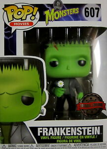 Logisch Universal Monsters Frankenstein Limited Edition QualitäTswaren - Funko Pop + Flower
