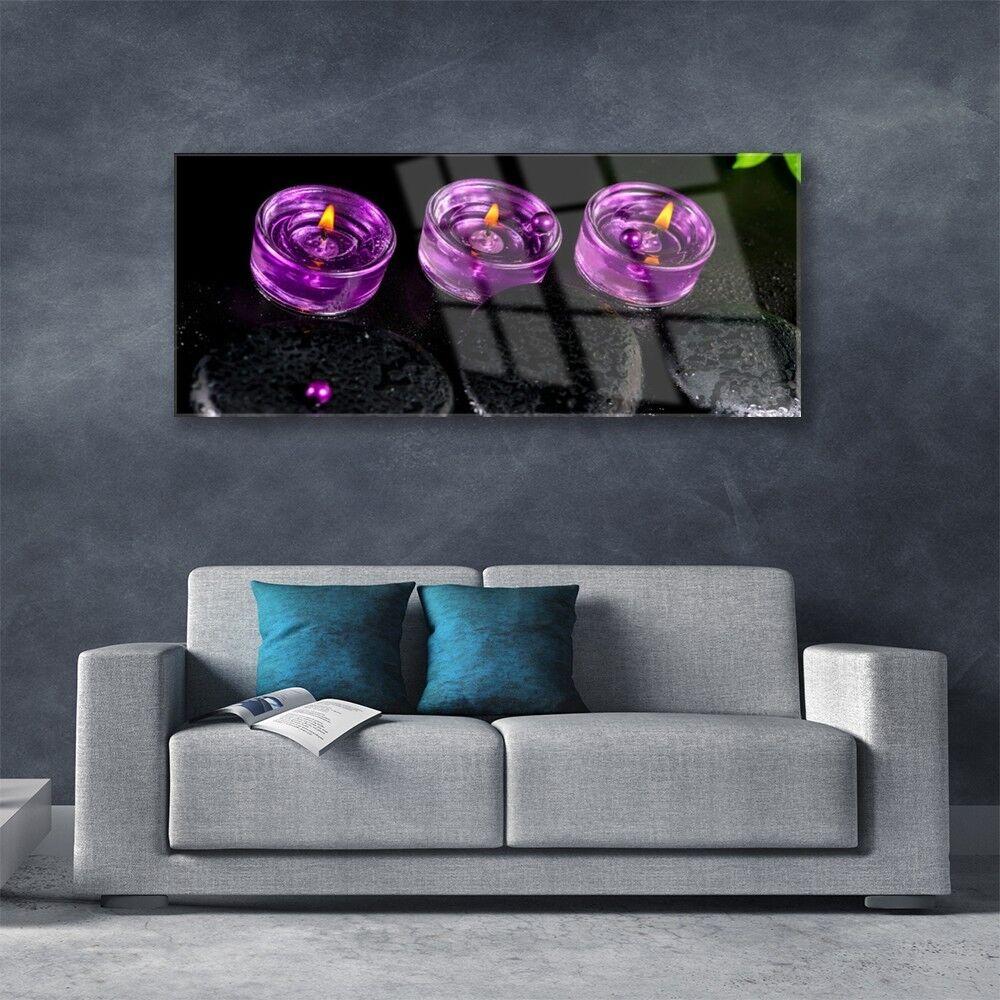 Acrylglasbilder Acrylglasbilder Acrylglasbilder Wandbilder aus Plexiglas® 125x50 Kerzen Steine Kunst b0555a