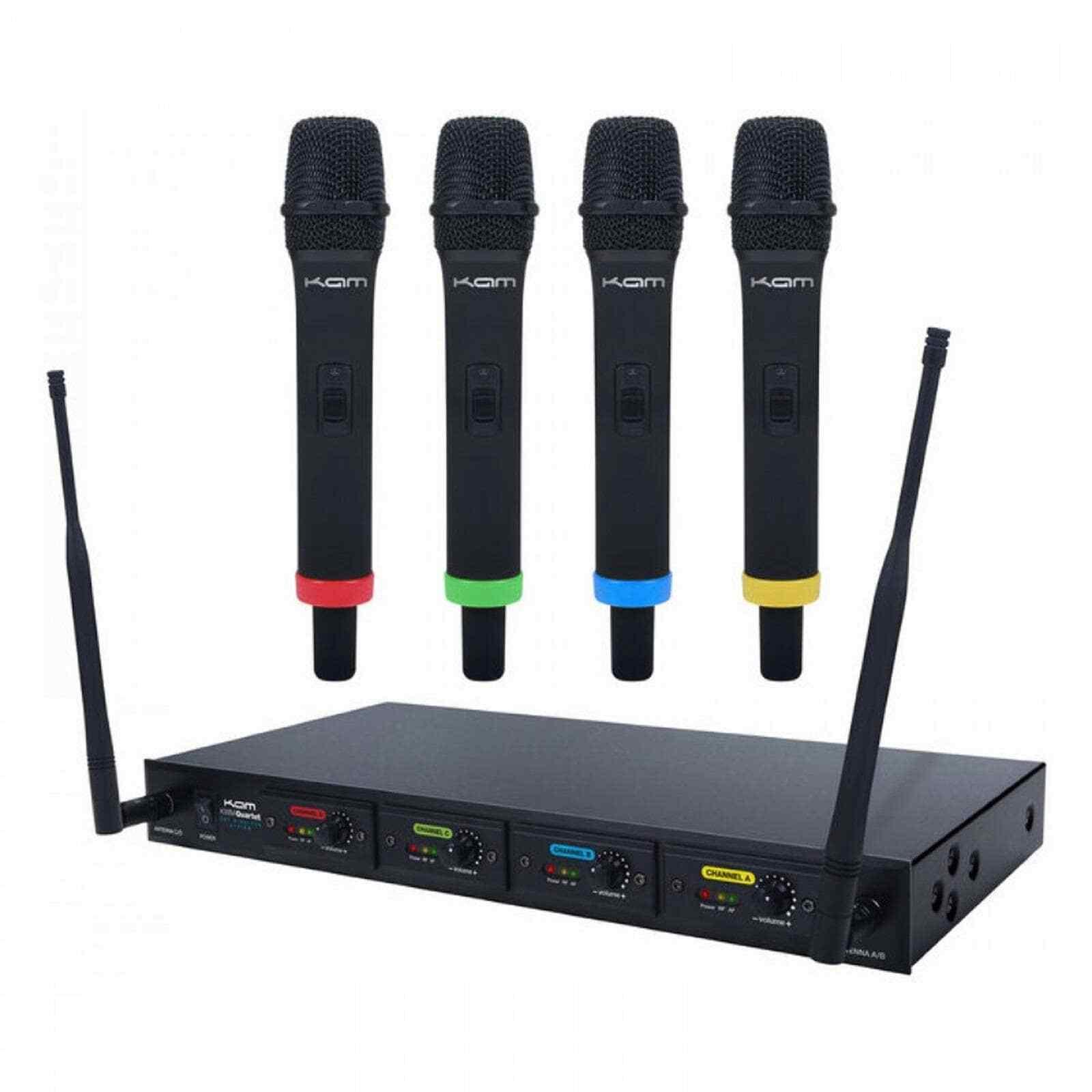 Kam KWM Quartet Wireless Microphone System