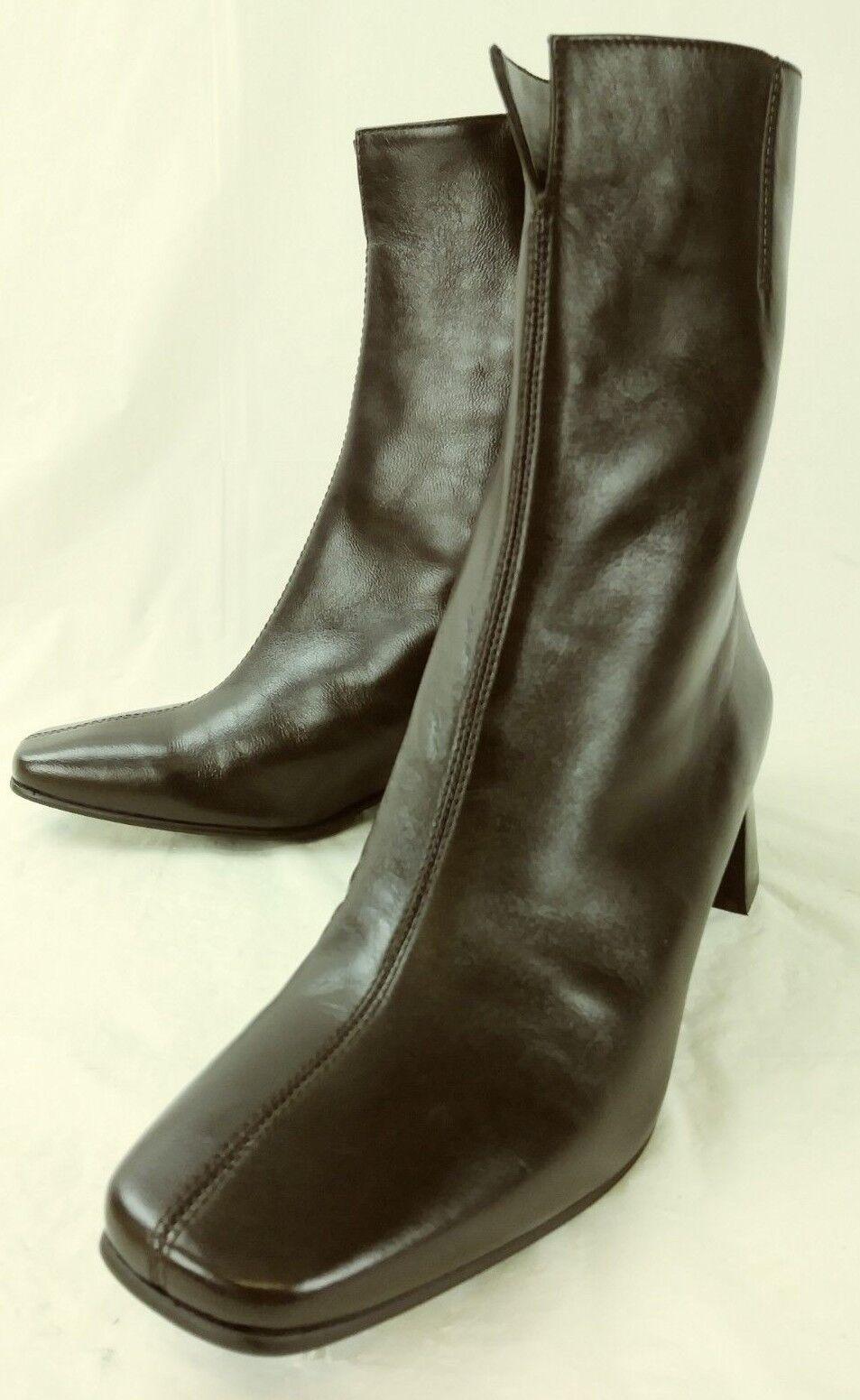 Etienne Aigner Wos Tobillo botas Passaic US 6 6 6 M Marrón Cuero Cremallera Tacones 5492  a la venta