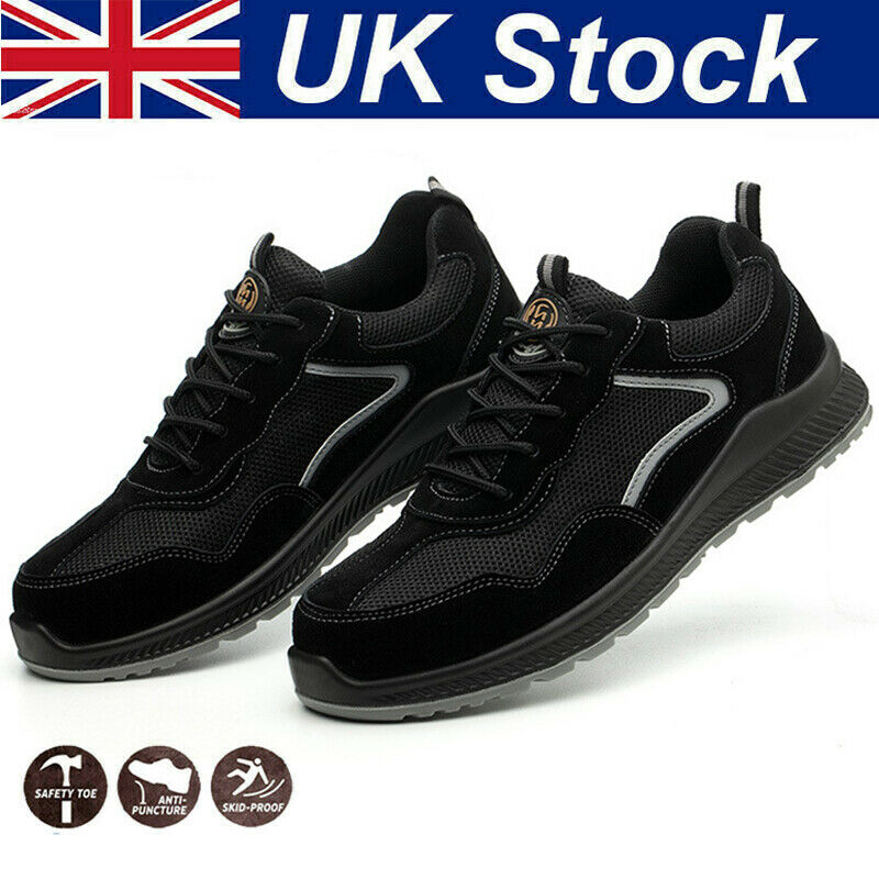 Mens Safety Shoes Trainers Steel Toe Cap Womens Work Boots Sports Sneakers