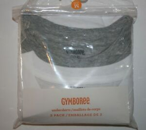 New-Gymboree-2-Pack-Boys-White-Gray-Underwear-Tee-Shirt-Tops-Size-4-Year-NWT