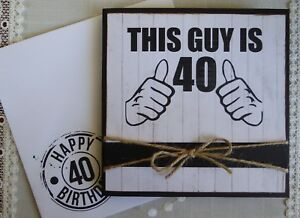 Happy-Birthday-Handmade-Male-Men-Accordion-Accordion-Card-40-40th-Happy-40th