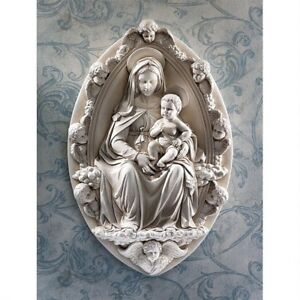 Madonna-And-Child-Design-Toscano-Exclusive-Replica-Wall-Sculpture-By-Rossellino
