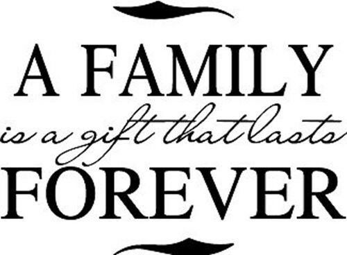 A Family is a gift Forever Vinyl Wall Home Decor Decal Inspirational Adorable