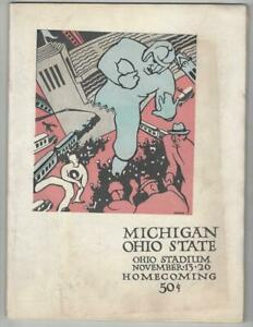 1926-Ohio-State-Michigan-Original-Football-Program-Key-Rivalry-Game-GD-VG