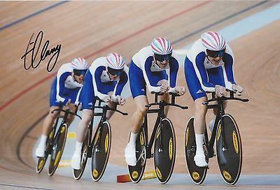 Olympic Memorabilia Ed Clancy Hand Signed Olympics 12x8 Photo.
