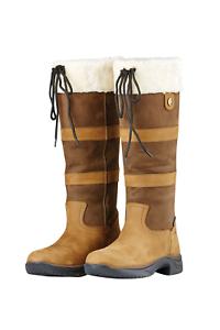 Dublín botas impermeables para mujer esquimal II-Marrón Oscuro