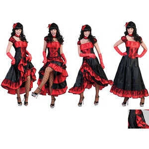 Saloon Girl Kleid Damen Kostum Cowgirl Wilder Westen Fasching 36 38