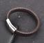 Personalised-Mens-Leather-Bracelet-Engraved-handprint-feet-DADDY-Jewellery thumbnail 12