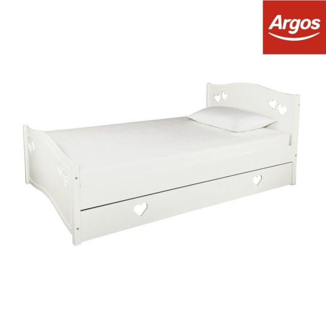 outlet store 9f2f3 1797d Argos Home Mia White Small Double Bed With Drawer