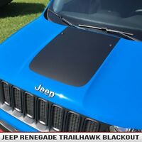 Renegade Hood Decal Jeep Trailhawk Style Blackout Matte Black Fits: 2015-16