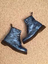 Dr Martens Women's Size 7 Blue Prism Hologram Jewel Boots Docs