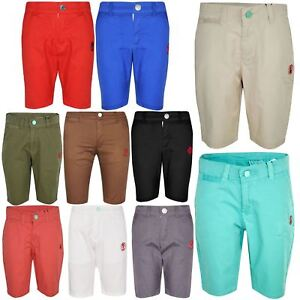 Boys-Shorts-Kids-Chino-Shorts-Summer-Knee-Length-Half-Pant-New-Age-3-16-Years
