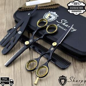 Black-Professional-Dog-Cat-grooming-scissor-Pet-grooming-scissors-pets-shears-UK