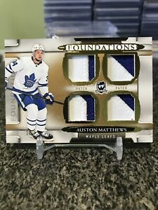 2018-19-The-Cup-Auston-Matthews-Quad-Game-Used-Patches-Rare-Gold-SSP-1-3-1-1