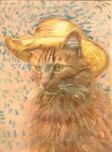 BCB Maine Coon Cat Cardboard Box ACEO Print of Painting 2 1//2 by 3 1//2 inches
