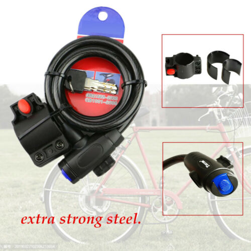 1.2M Bike Heavy Duty Extra Strong Steel Security Bycicle Lock Steel Cable Chain