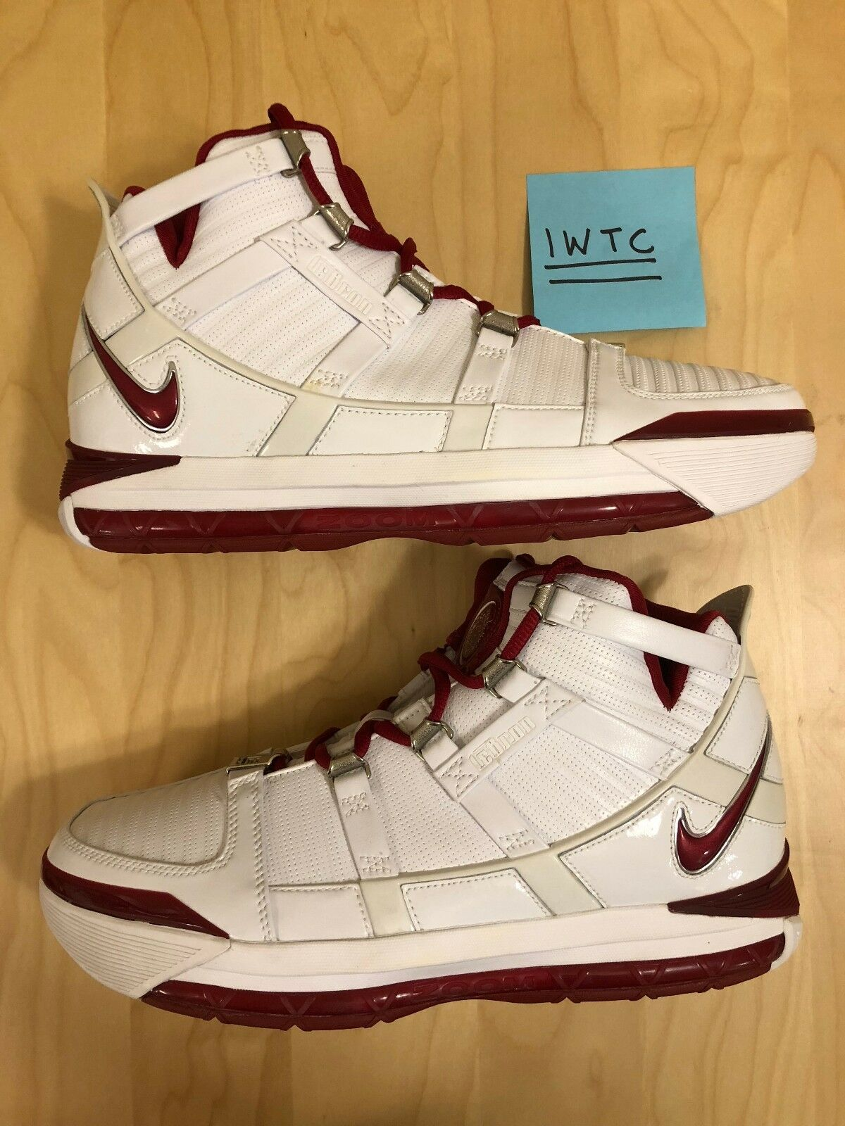 Nike Zoom Exclusive LeBron III 3 China Exclusive Zoom Red Champ Limited DS New SZ 10 0088/1000 da282d