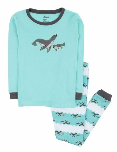 Size 12M-14Y Leveret Boys Girls Fox Pajama Set 100/% Cotton