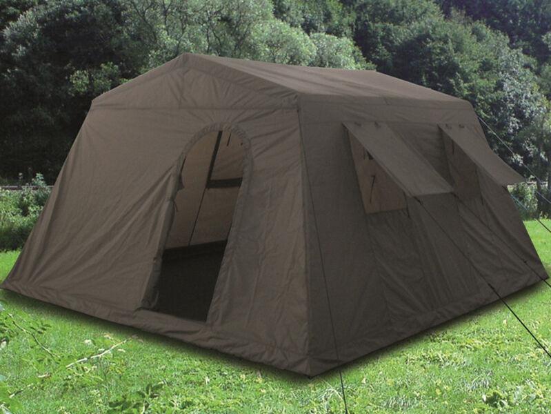 Mil-Tec Großzelt Zelt 6-Personen Campinzelt Gruppenzelt Oliv 340x310x180cm